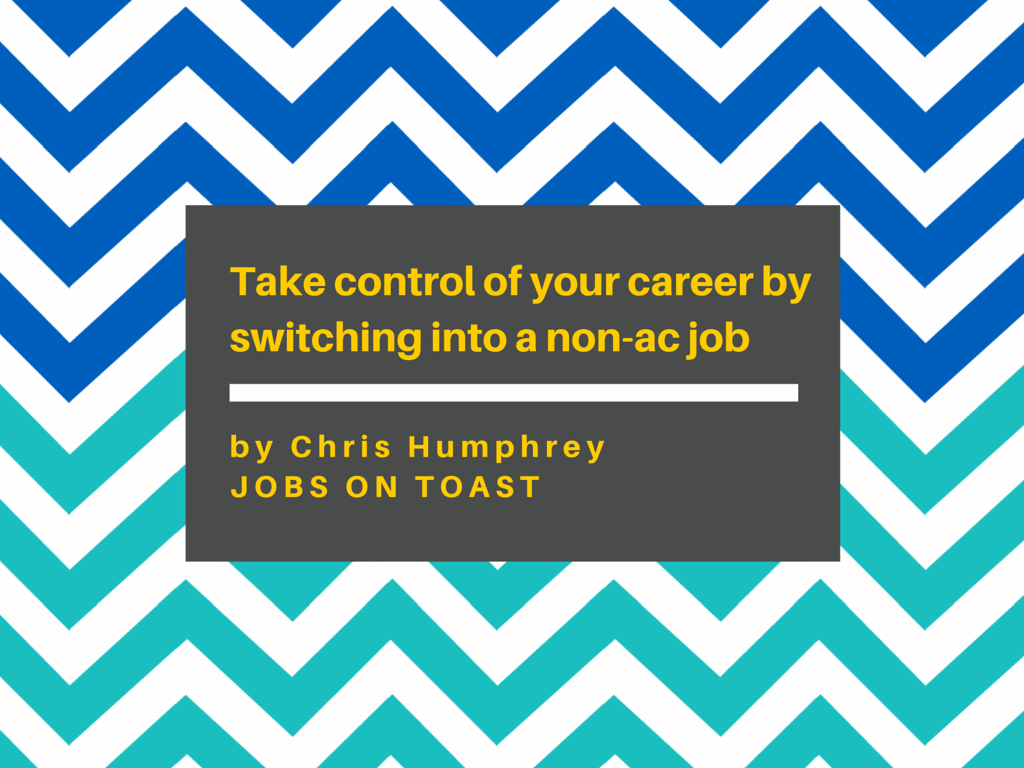 Take control of your career by switching into a job outside of