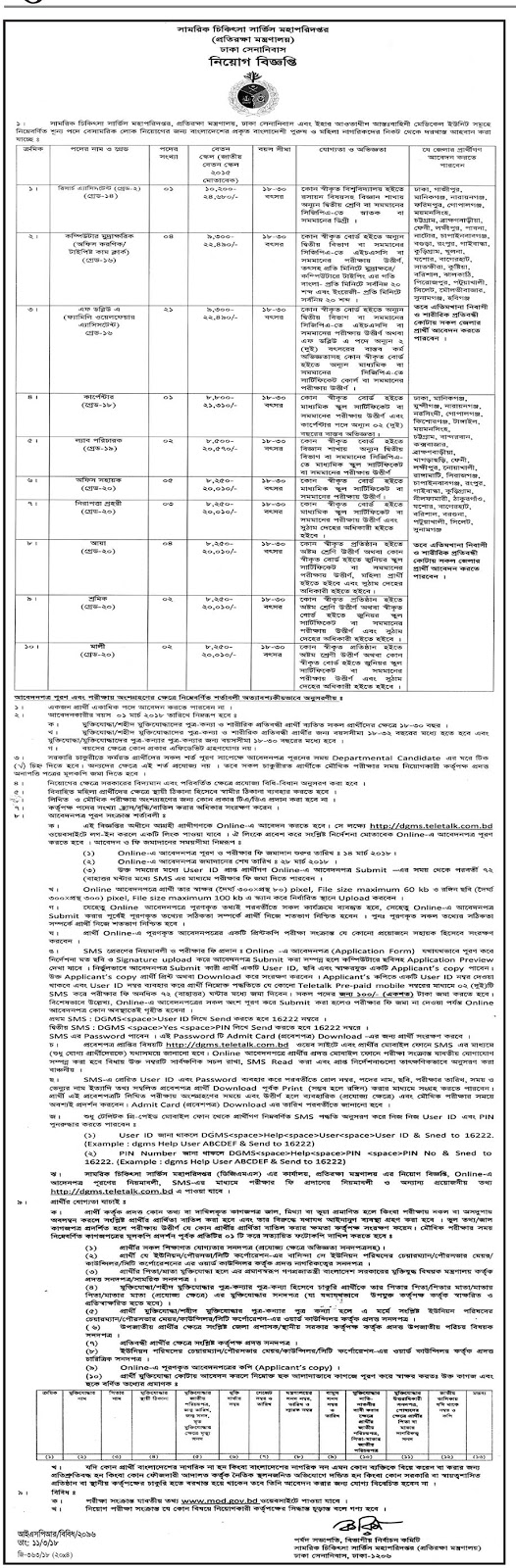 Ministry of Defense Exam Date & Seat Plan Notice