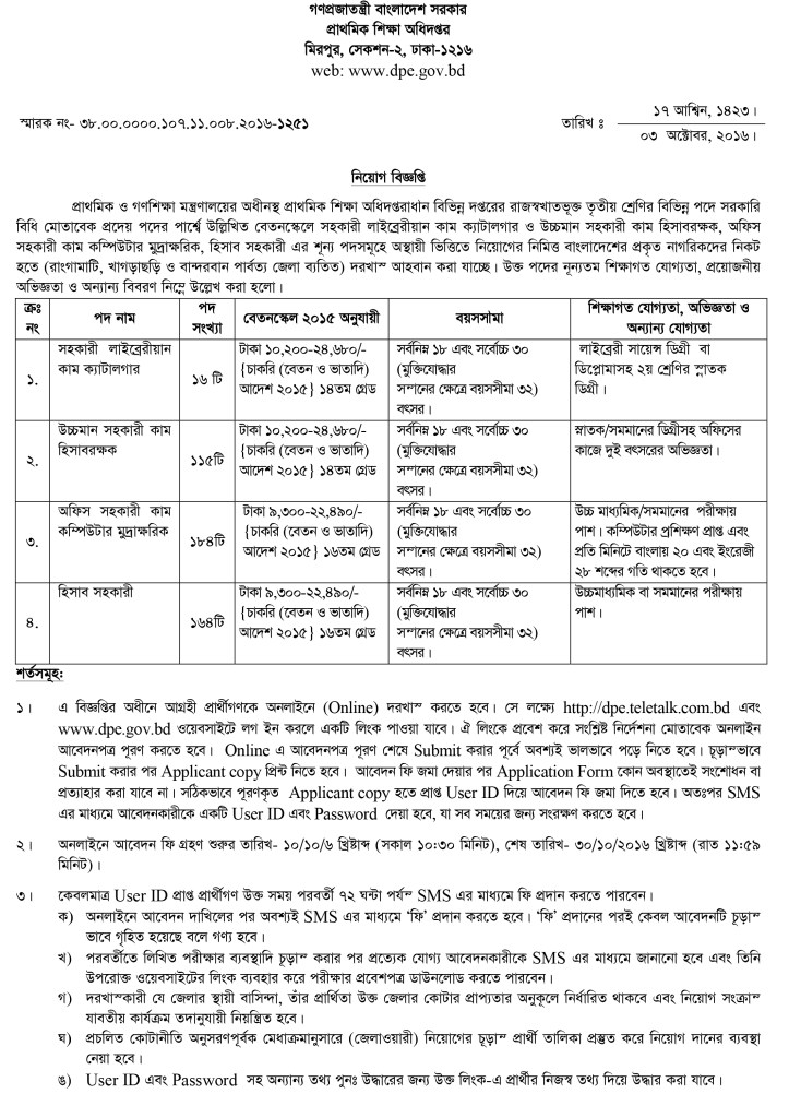 DPE Exam Date And Admit Card - dailyjobsbd