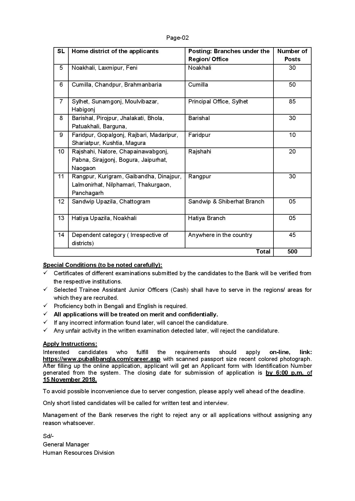 Pubali Bank Limited Job Circular Result 2019 & Apply Online 3