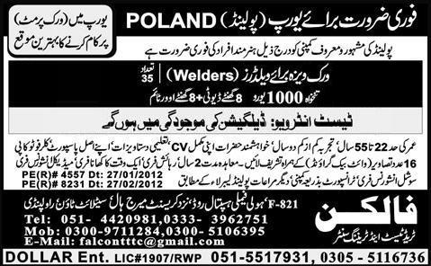Welder jobs in Poland advertisement