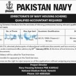 Pakistan Navy Jobs for Civilian in 2016 Housing Scheme