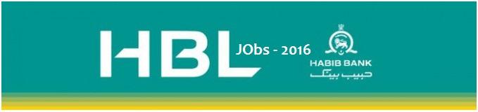 Habib Bank Limited HBL Latest Jobs 2016 in Pakistan