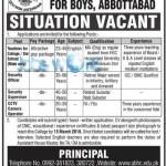 Army Burn Hall College Abbottabad Jobs 2016