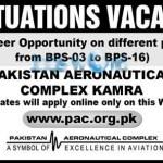 Jobs 2016 In Pakistan Aeronautical Complex Kamra PAC Latest Posts