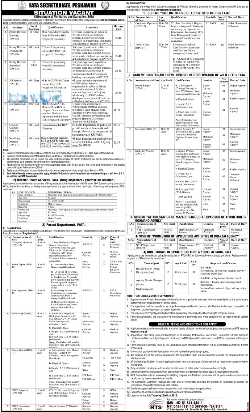 fata secretariat peshawar jobs syllabus eligibility nts fata secretariat peshawar jobs 2016 syllabus eligibility nts application form