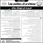 Punjab Workers Welfare Board Job Opportunities 2016