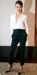 Панталон с висока талия