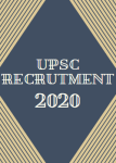 UPSC भरती 2020 UPSC Recruitment