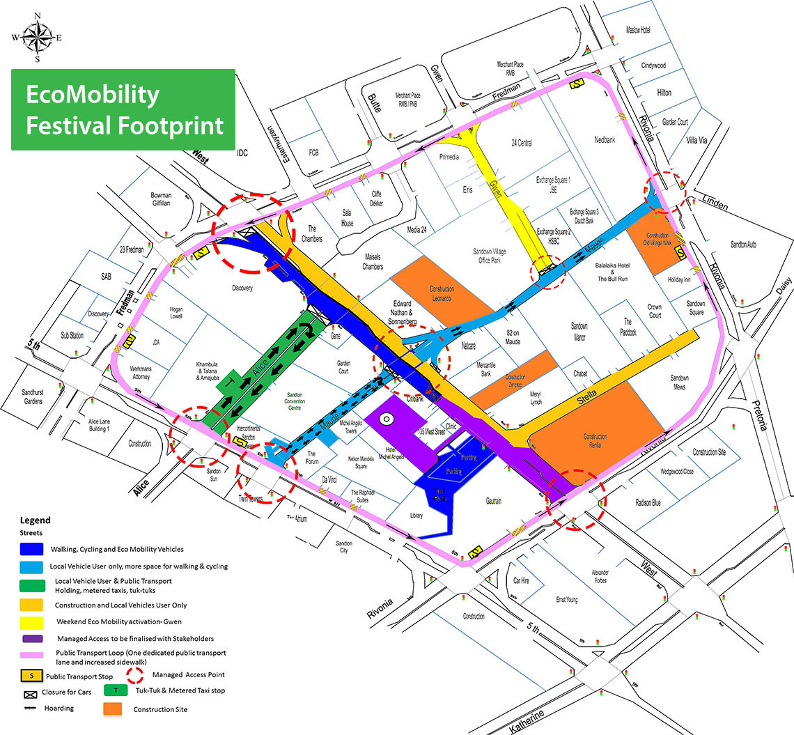 he graphic indicates the changes that will happen during the Festival as well as the legacy or long-term changes. This is also shown on the map.