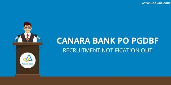 Canara Bank Recruitment 2018 – 800 PO Posts