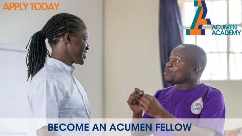 Acumen East Africa Fellows Program 2021 for Emerging Leaders