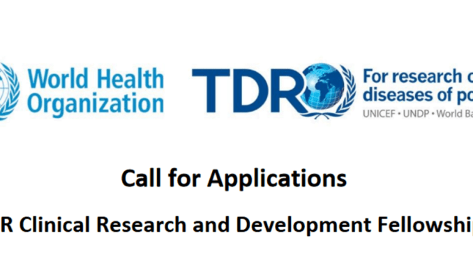 University of the Witwatersrand's WHO/TDR 2022 Postgraduate Training Scholarships in Implementation Science (Fully Funded)
