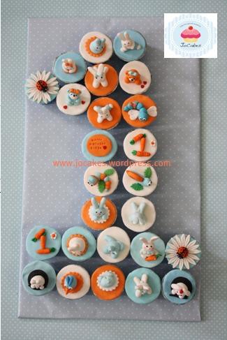 Number 1 Bunny Cupcakes Jocakes