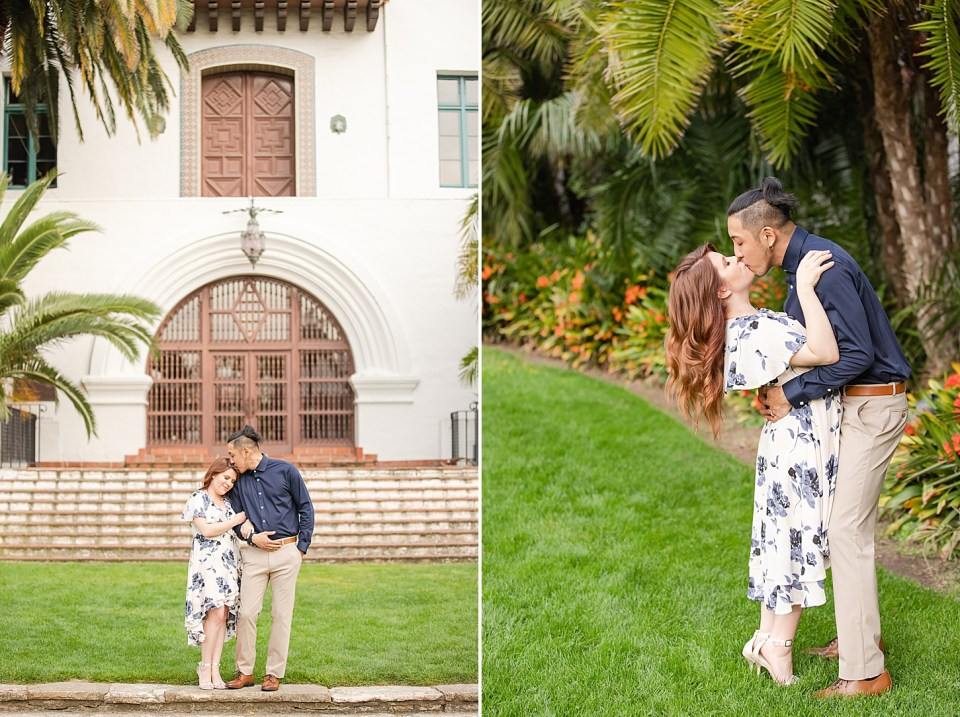 Ray escorting Danielle as she leans her head against his arm and he kisses the top of her head. A second photo of the couple kissing. Ray is leaning her backwards with his arms around her waist and her arms on his shoulders.