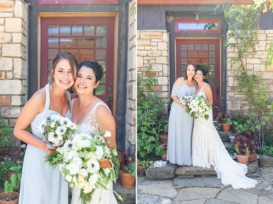 Brandi with her bridesmaids at her Rancho San Julian Wedding