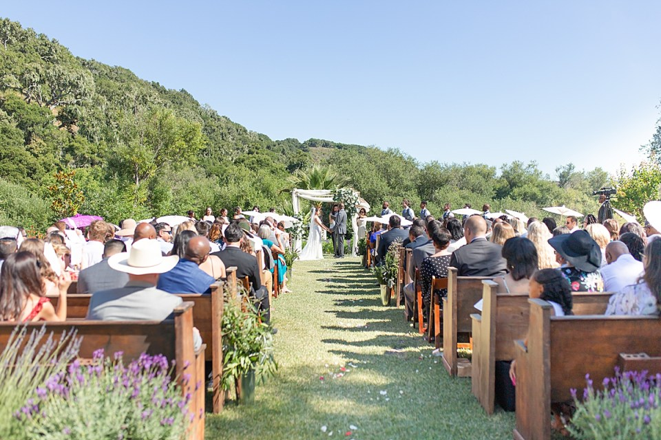 Brandi & Victor at the altar during their ceremony