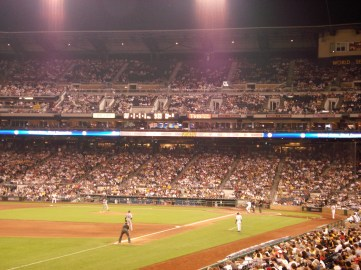 A view from our seats at the Pittsburgh game.