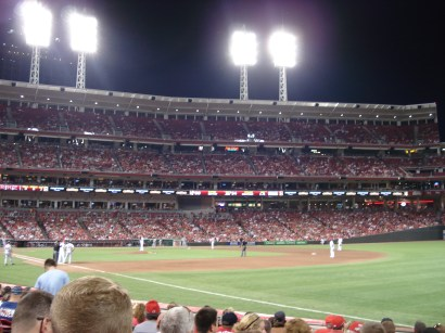 Our view from the first Reds game we attended