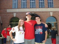 My brothers and I outside the Baseball Hall of Fame