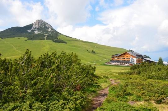 Weißhorn und Hotel Schwarzhorn
