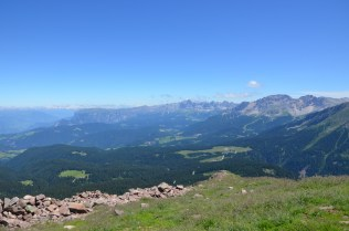 La vista dalla cima del Corno Nero