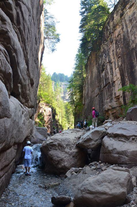 Nella parte bassa del Canyon