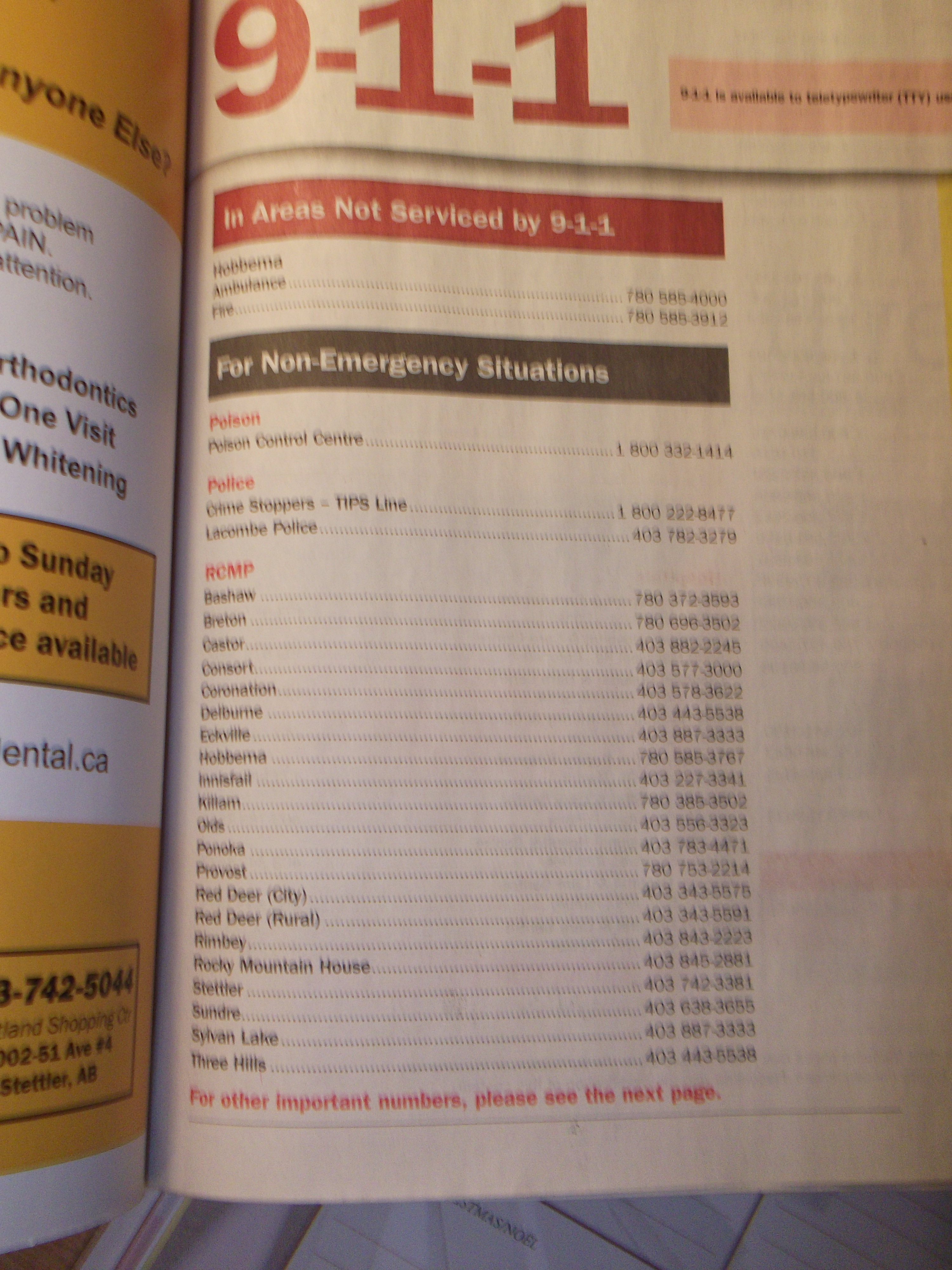 Reading Skills Use The Phone Book