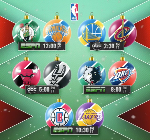 Nba Christmas Day Games - Christmas Decore
