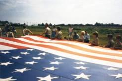 Boy Scouts with Flag, Lenexa Community Days Parade, 1985. Original: http://www.jocohistory.org/cdm/ref/collection/lhs/id/1626
