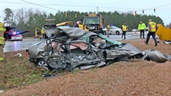 Accident - School Bus - Raleigh Road, 02-08-18-3JP