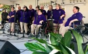 The 98th State Singing Convention draws groups of all kinds for the competition. Above, members of the choir of Universal Health Care in Lillington perform Saturday afternoon.