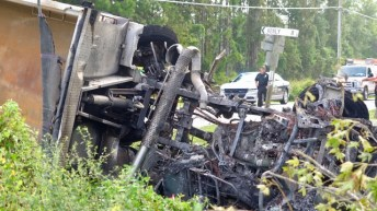 Fatal - Dump Truck - Rains Mill Road 09-12-18-1JP