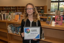 Clayton Middle student Makayla Brock received a Student Innovator grant valued at $500