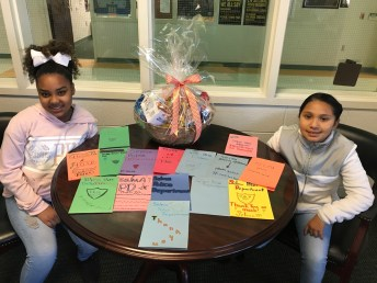Selma Elementary Student Leadership Council Members Alasia Jaramillo and Noelia Lopez