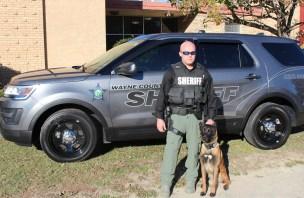 K9 Edora and her handler Master Deputy Josh Davis.
