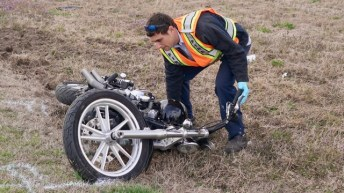 Accident - Motorcycle, NC 242 South, 02-27-19-1JP