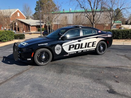 The new Clayton police black and white patrol car design