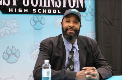 West Johnston High School named former NC State standout and NBA champion Chucky Brown as the school's head basketball coach at a special press conference on Tuesday, April 2.