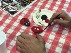 Mary Gautier was one of more than 40 Champion Hoist and Equipment employees who painted rocks. She was partial to red.