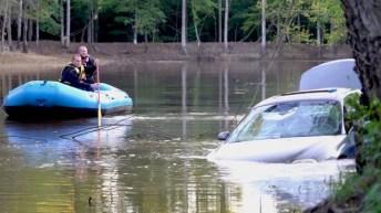 Submerged car - Antioch Church Road 09-03-19-3JP