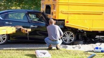 Accident - School Bus, Sanders Road 10-04-19-2JP