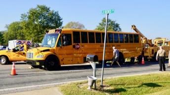 Accident - School Bus, Sanders Road 10-04-19-4JP