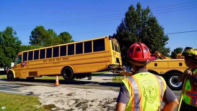 Accident - School Bus, Sanders Road 10-04-19-5JP