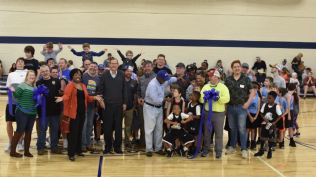 The ribbon cutting ceremony for Benson's newly renovated Lee Street Gym was held on Saturday, January 11th, 2020. Town administration, staff, elected officials, Benson Chamber staff, and several Benson residents attended the event.