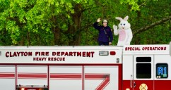 Clayton Fire Department Easter Bunny