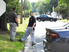 Smithfield Police recovered evidence linked to earlier shootings Monday afternoon on South Sixth Street near Lee Street.