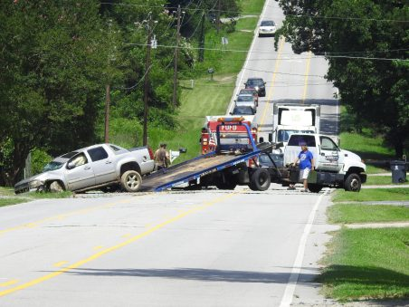 The first accident involved a single vehicle that overturned on Highway 301 just north of Four Oaks.