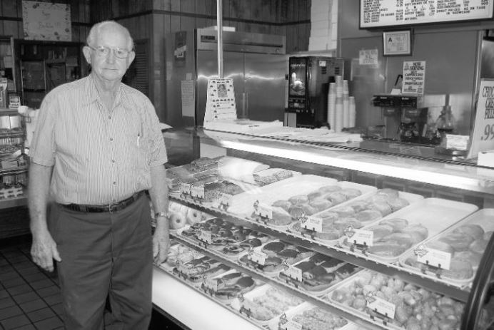 Freddie Williford is shown in the earlier years at Sherry's Bakery in downtown Dunn. Dunn Daily Record Photo