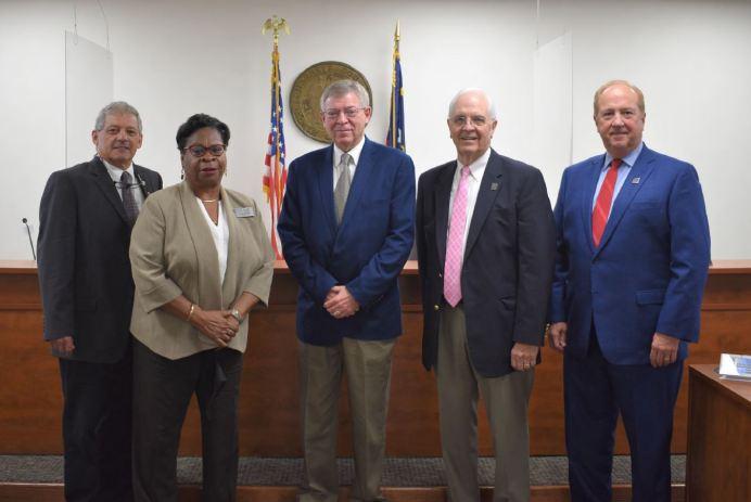 Vice-Chairman Joe Miller, Barbara McKoy, Chairman Mark B. Johnson, Gordon Springle, Brooks Matthews